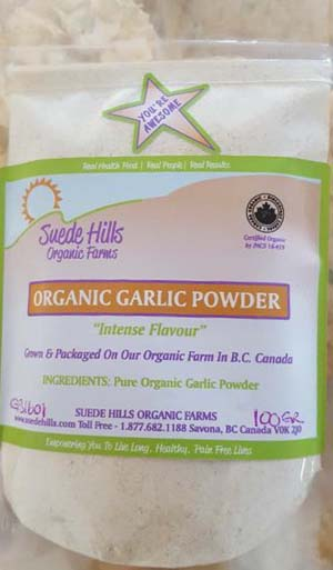 suede hills organic garlic powder