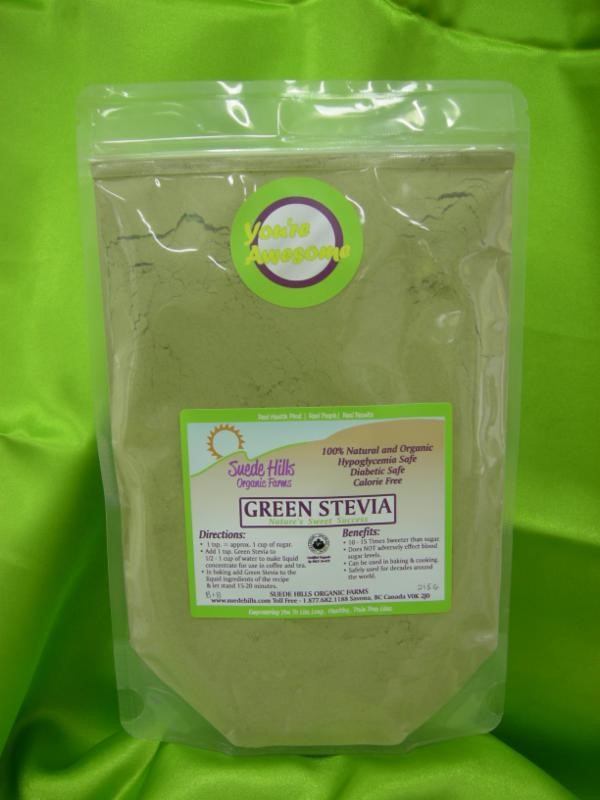 organic green stevia powder